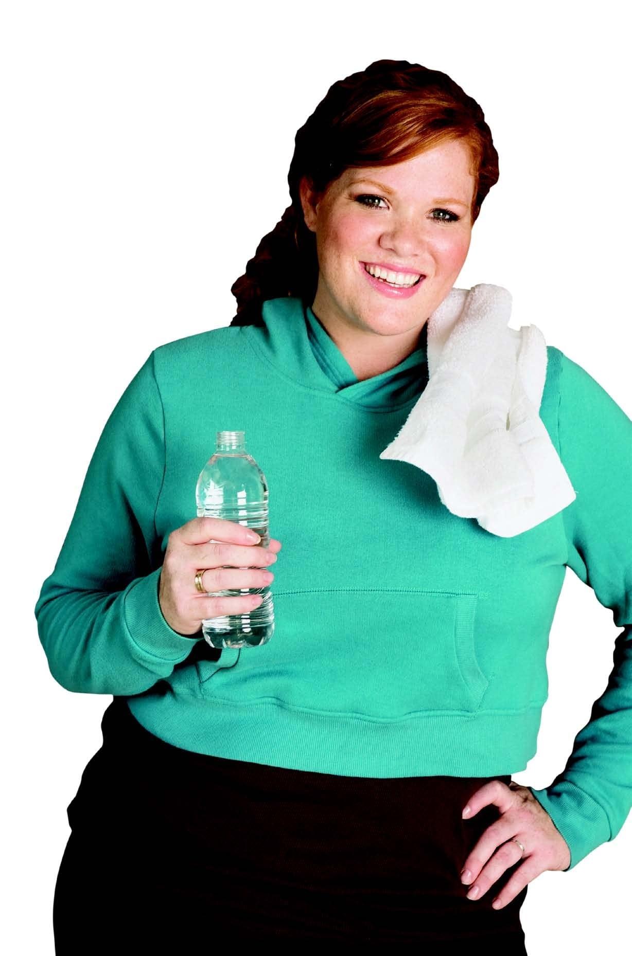 Woman water bottle