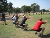 Boot camp squats