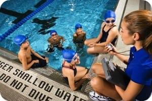 Swim Instructor Rounded