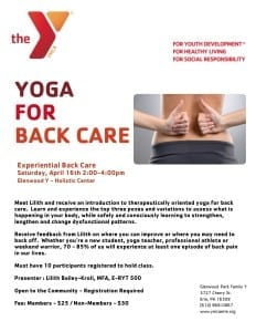 Experiential back care flyer