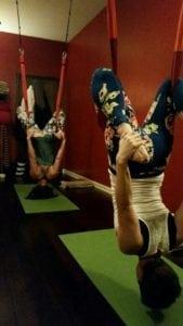Erica & Michele Aerial Yoga
