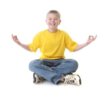 youth yoga boy