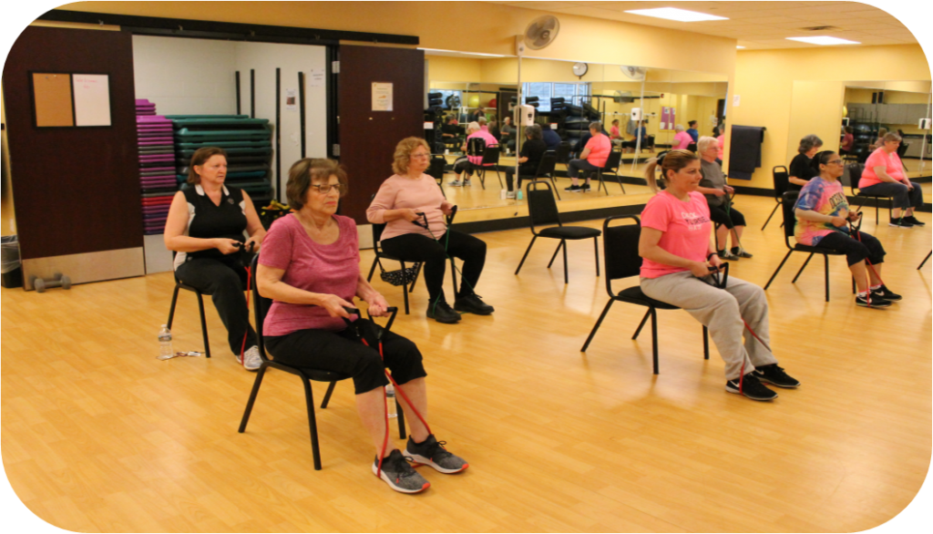 YMCA members working out