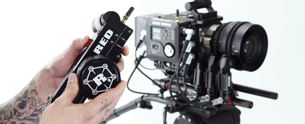RED 3-Axis Lens Control System featuring the Tactical Hand Controller