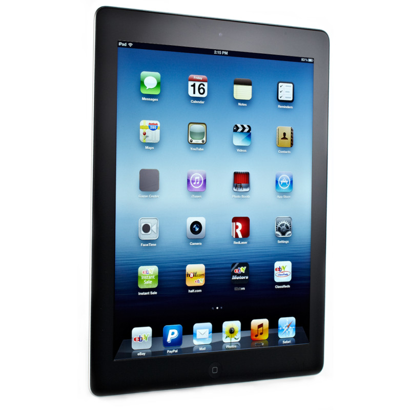 Apple iPad 3rd Generation 64GB, Wi-Fi + 4G Cellular (AT&T), 9.7in - Black (MD368LL/A)