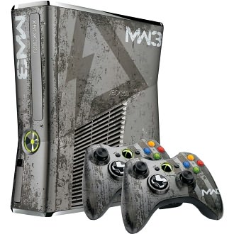 Microsoft Xbox 360 S Call of Duty: Modern Warfare 3 Limited Edition Bundle 320 GB Silver Console (NTSC)