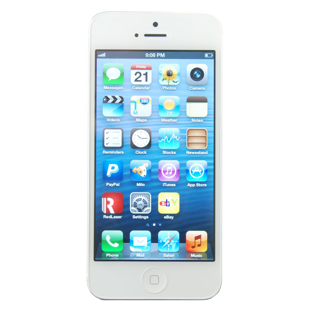 Apple iPhone 5 - 32GB - White & Silver (Unlocked) Smartphone
