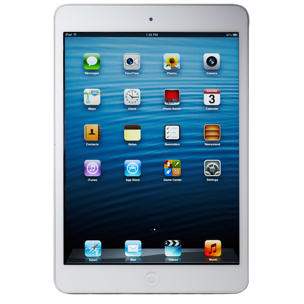 Apple iPad mini 1st Generation 16GB, Wi-Fi + 4G Cellular (Unlocked), 7.9in - White & Silver
