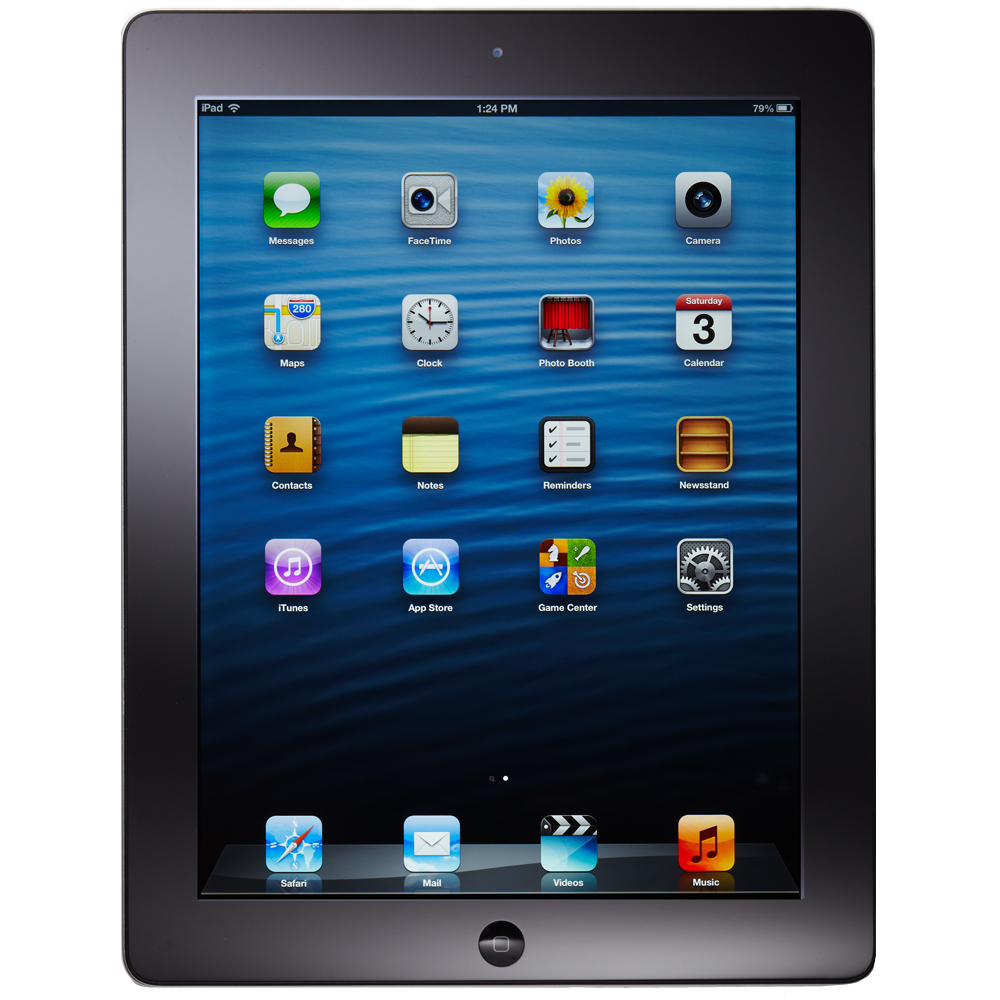 Apple iPad 4th Generation 16GB, Wi-Fi, 9.7in - Black (with Engraving)
