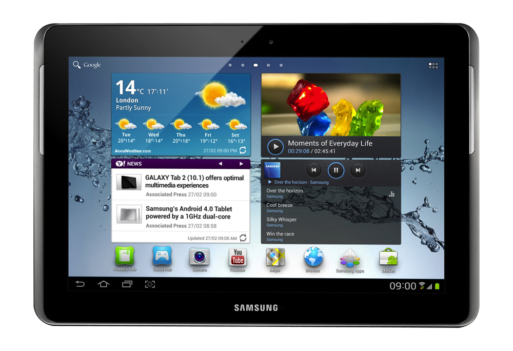 Samsung Galaxy Tab 2 SGH-I497 16GB, Wi-Fi + 4G (AT&T), 10.1in - Titanium