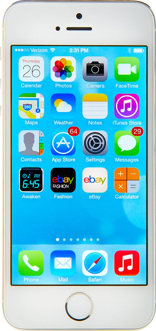 Apple iPhone 5s - 64GB - Silver (AT&T) Smartphone