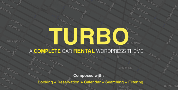 Turbo - Car Rental System WordPress Theme, WooCommerce Booking, car rental