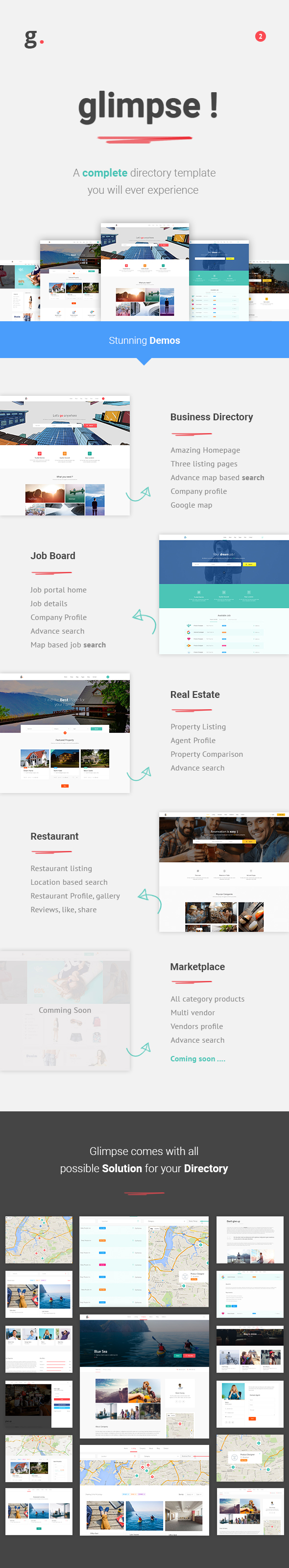 glimpse multipurpose directory template by redqteam themeforest