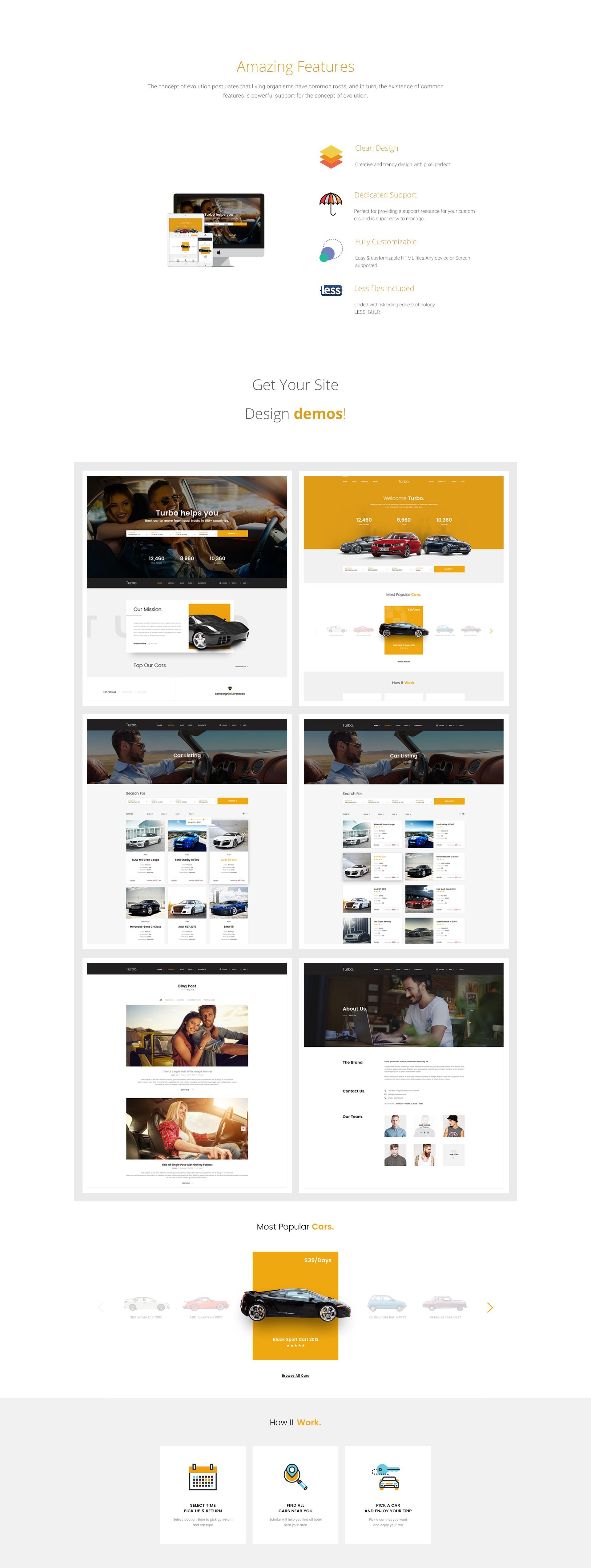 Turbo - Car Rental HTML Template - 1