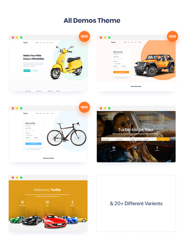 Turbo - WooCommerce Rental & Booking Theme Free Download
