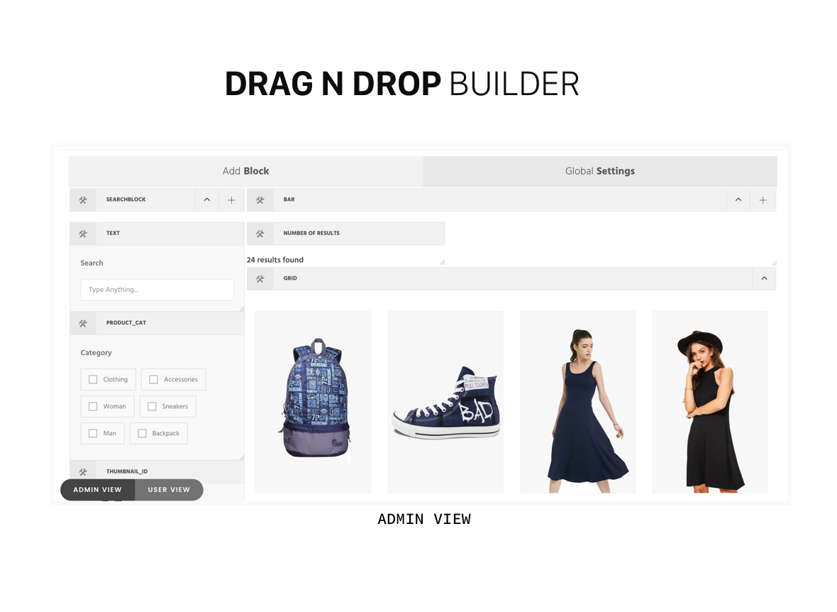drag n drop  Download Reactive Search Pro – Advanced WordPress Search Filter Map & Grid nulled drag