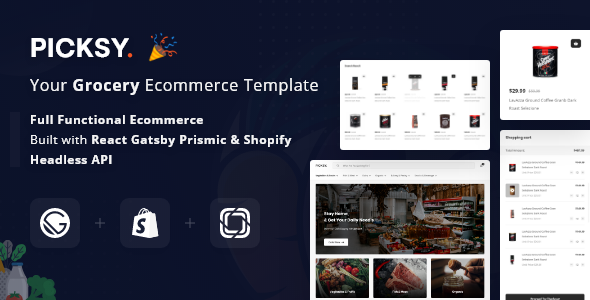 Picksy - React Gatsby Grocery Ecommerce Template