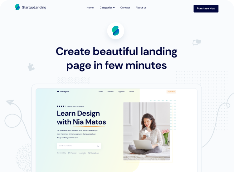 Agency Classic Landing Page Template