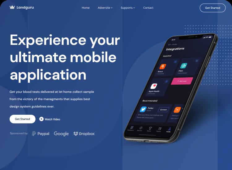 App Modern Landing Page Template