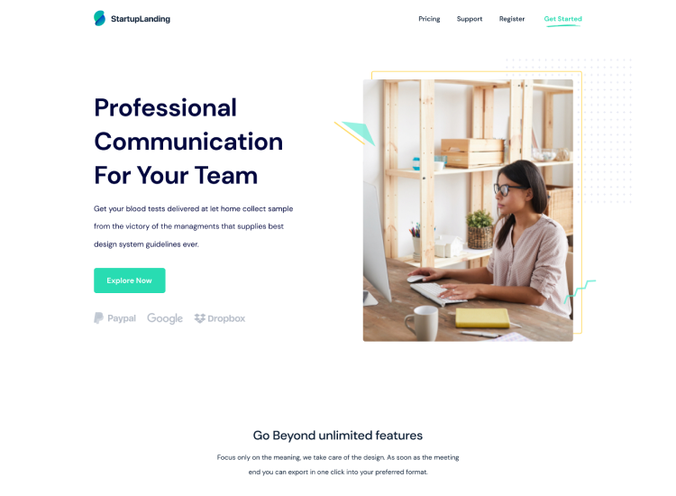 SaaS Classic Landing Page Template