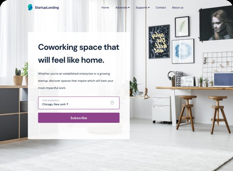 SaaS Modern Landing Page Template