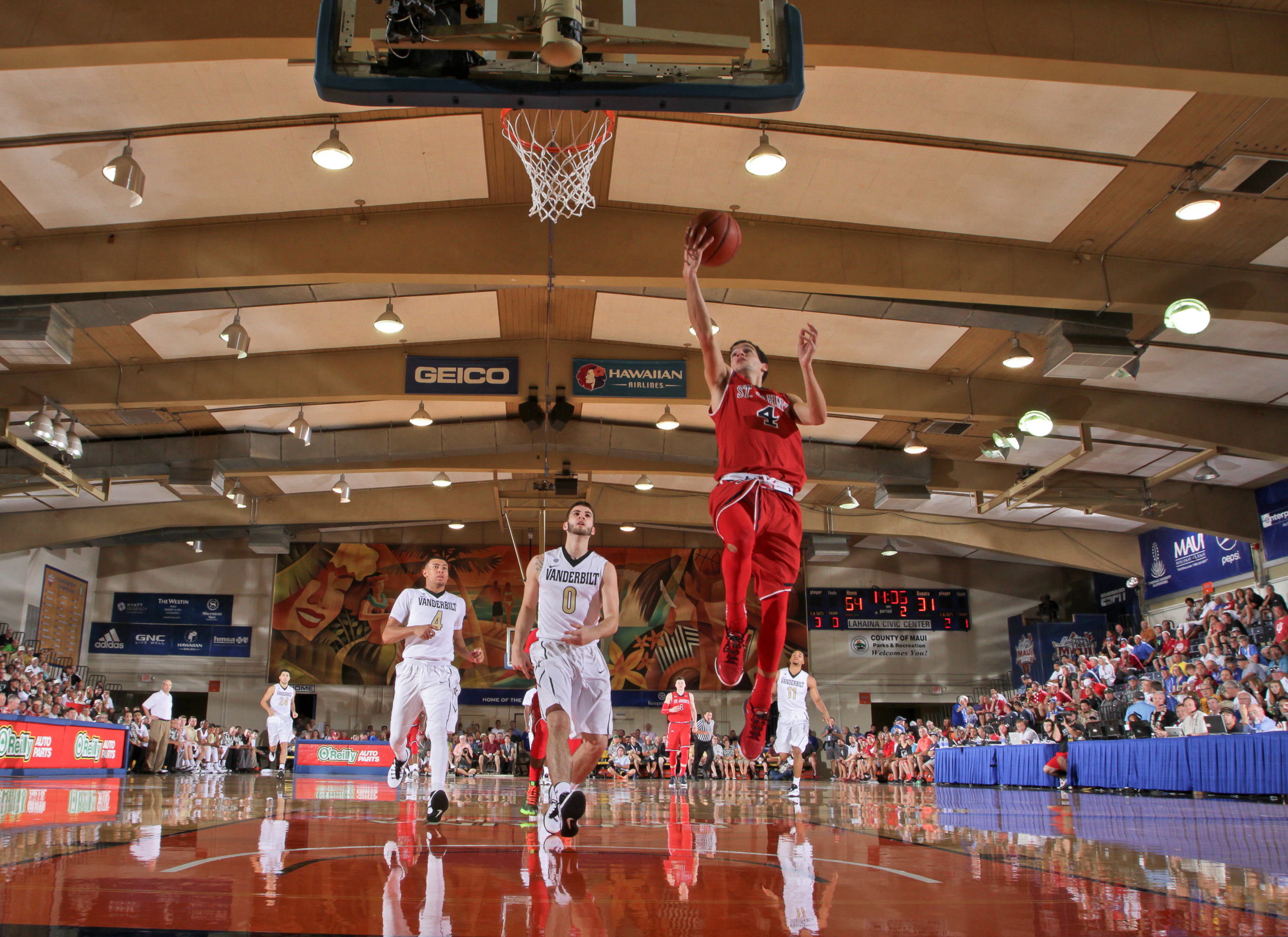 Federico Mussini scored a game-high 14 points for the Red Storm.
