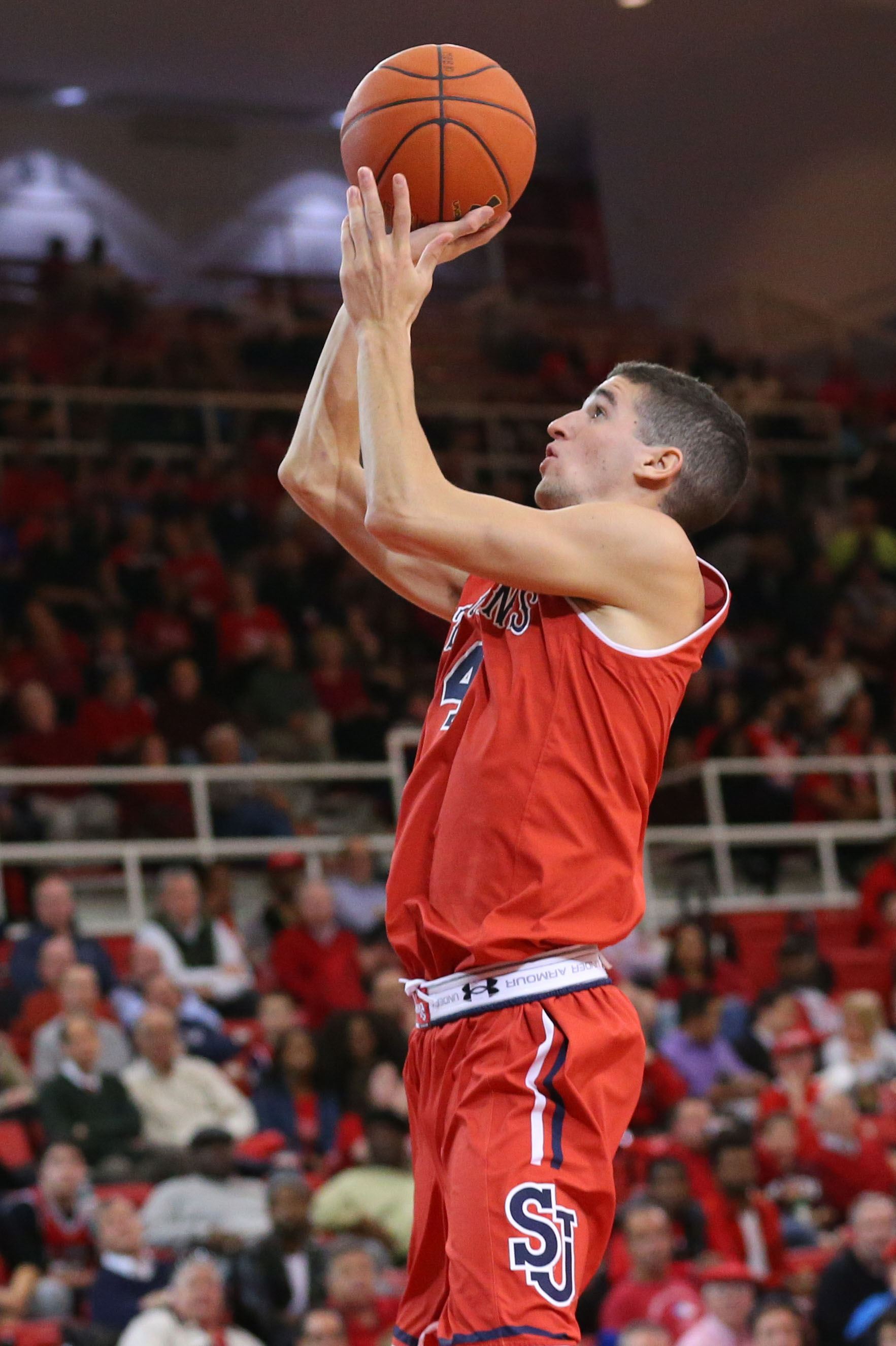 Federico Mussini scored a team-high 11 points for the Red Storm.