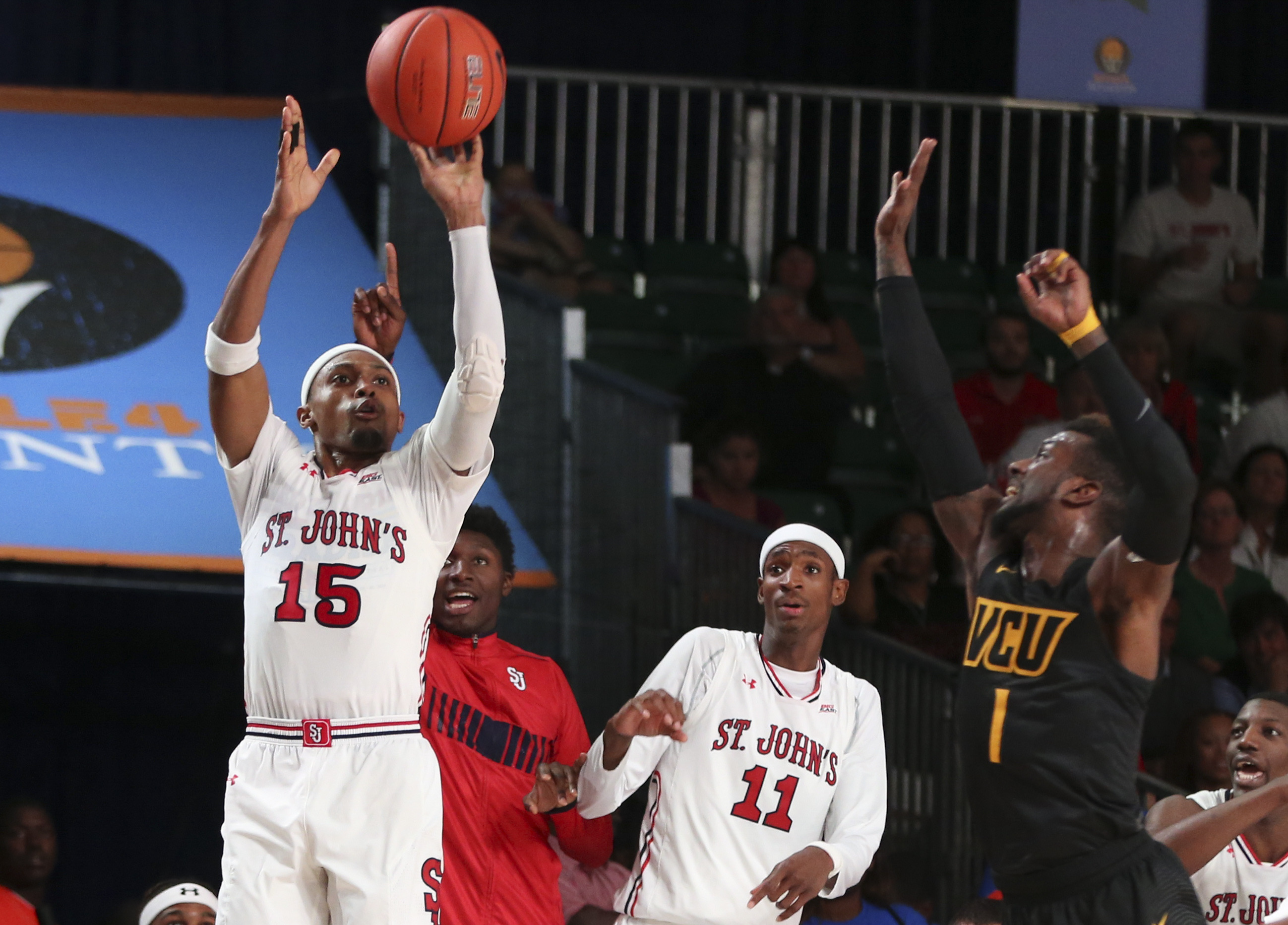 Bashir Ahmed scored 13 points for the Red Storm against VCU on Thursday evening