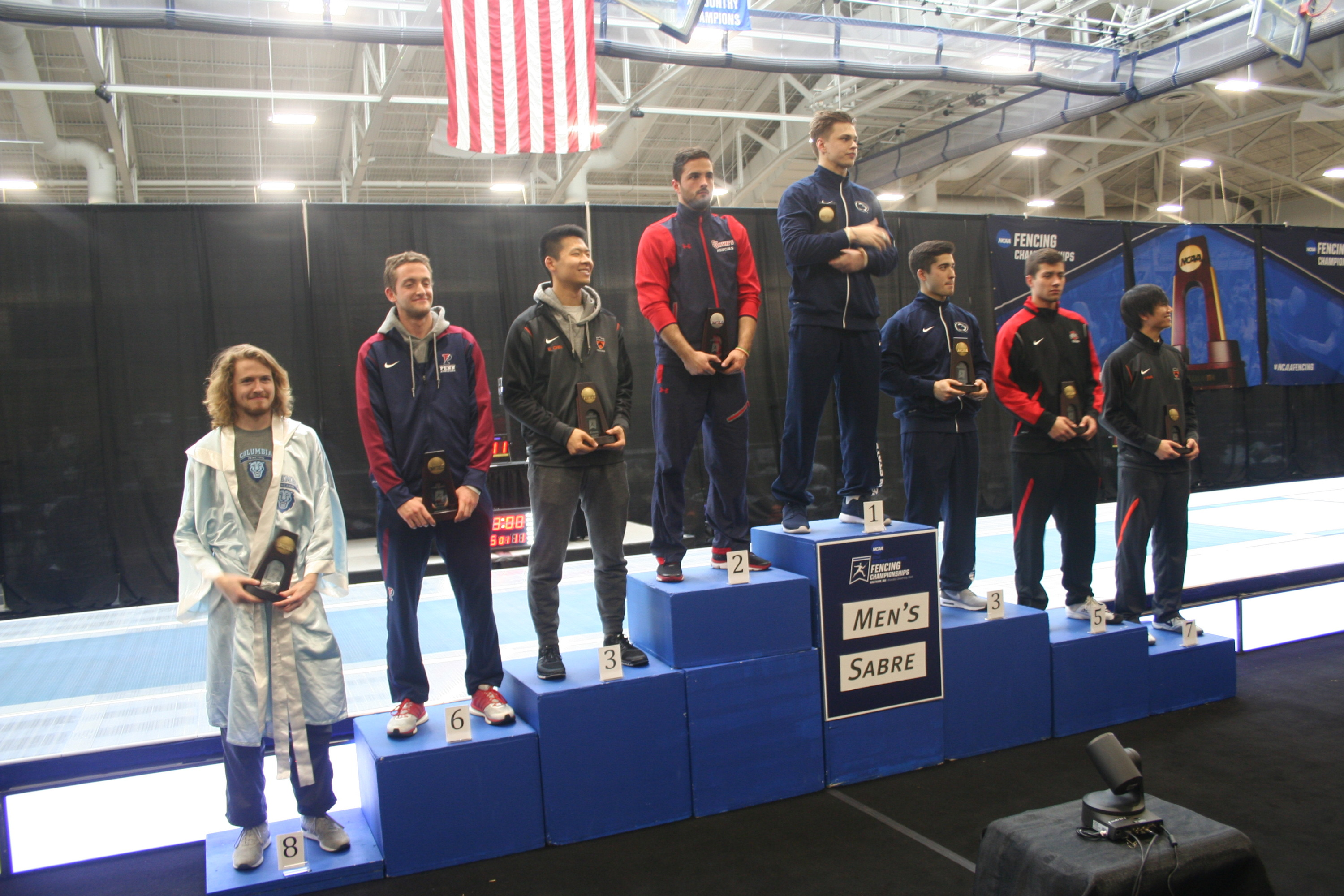 Senior Ferenc Valkai finished second in men's saber for third-consecutive year at the NCAA Fencing Championships.