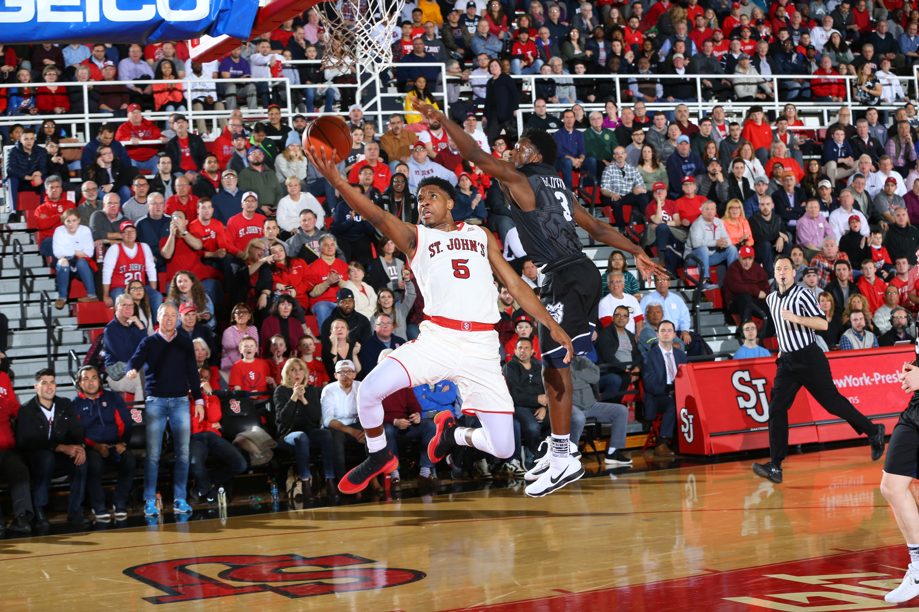 Justin Simon scored 24 points and grabbed 10 boards to lead the Red Storm past Butler