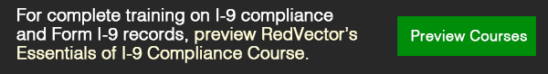 RedVector's Essentials of I-9 Compliance Course