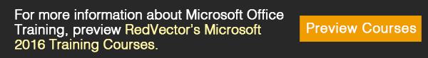 RedVector's Microsoft 2016 Training Courses.