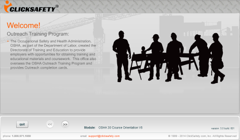 OSHA 30 Hour Online Construction Training