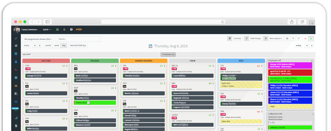 Employee Scheduling & Shift Planning Software