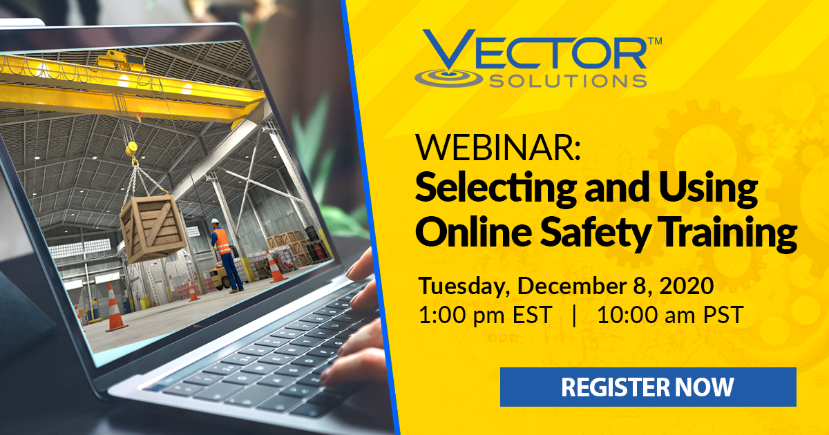 Banner for Webinar: Selecting & Using Online Safety Training