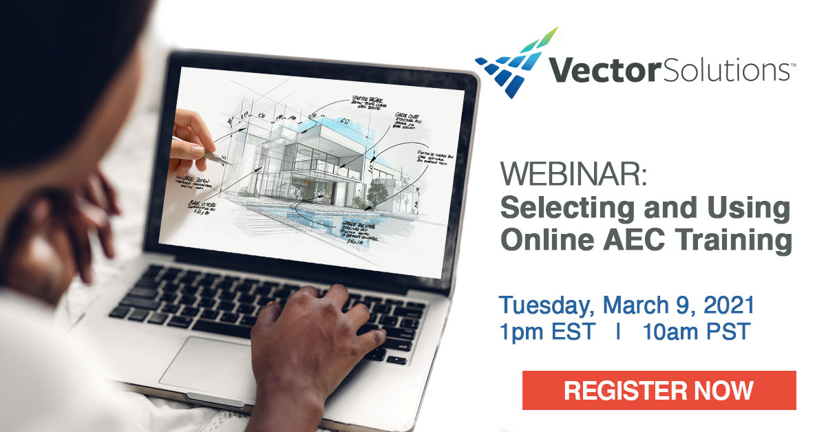 Banner for Webinar: Selecting and Using Online AEC Training
