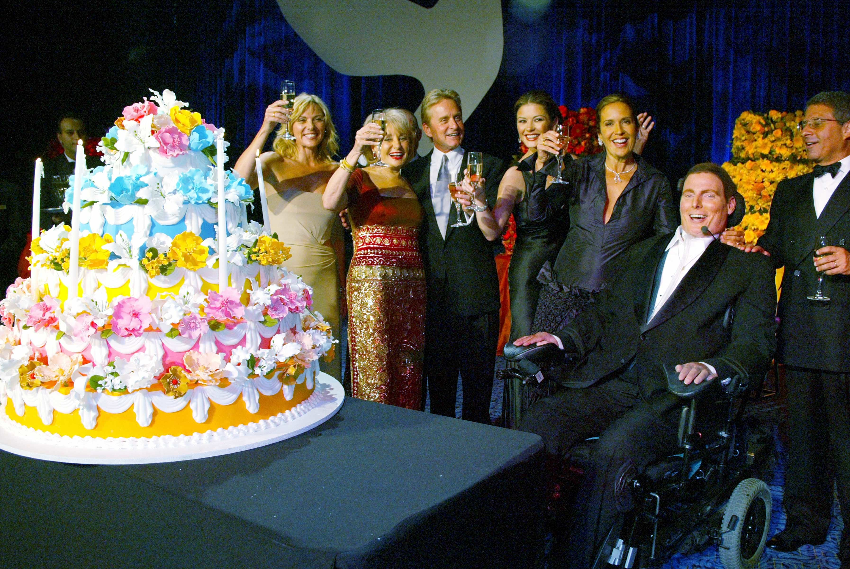 9/25 Club – In 2002, we held a special A Magical Evening on Christopher Reeve's birthday where he celebrated with other birthday buddies Barbara Walters, Michael Douglas and Catherine Zeta-Jones.