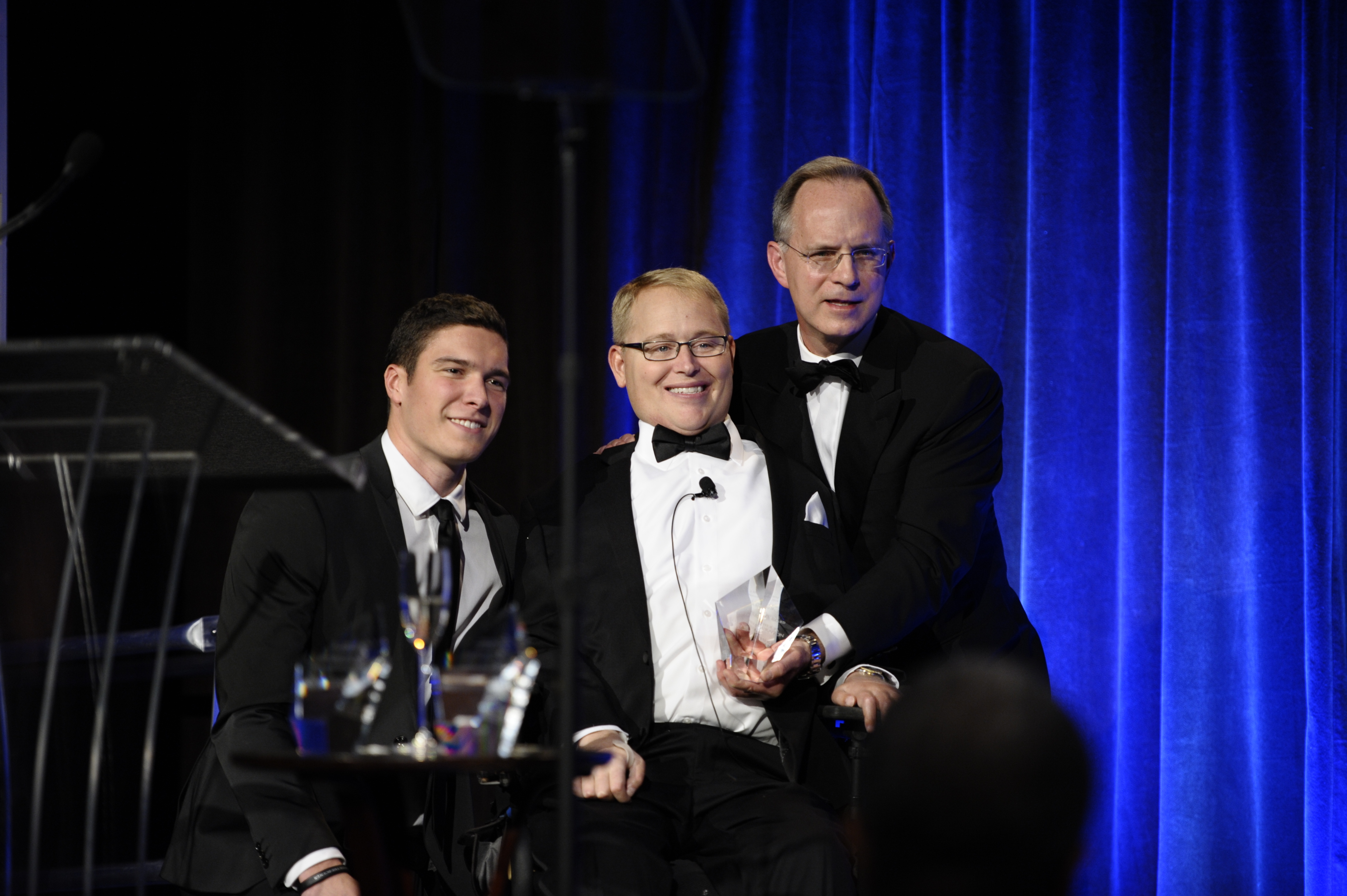 Travis Roy in 2014 when he received the Christopher Reeve Spirit of Courage Award