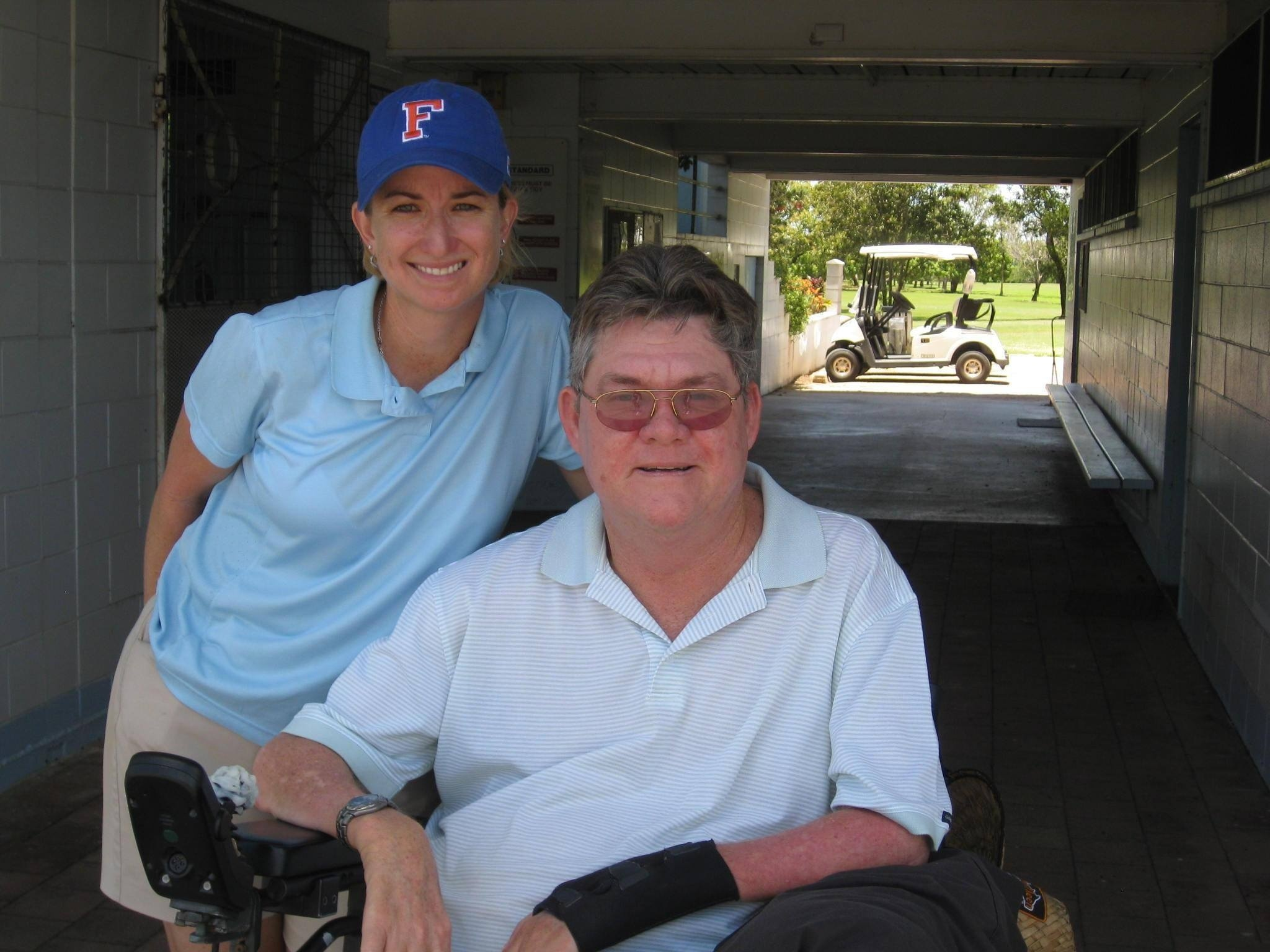 Karrie Webb pictured with her coach