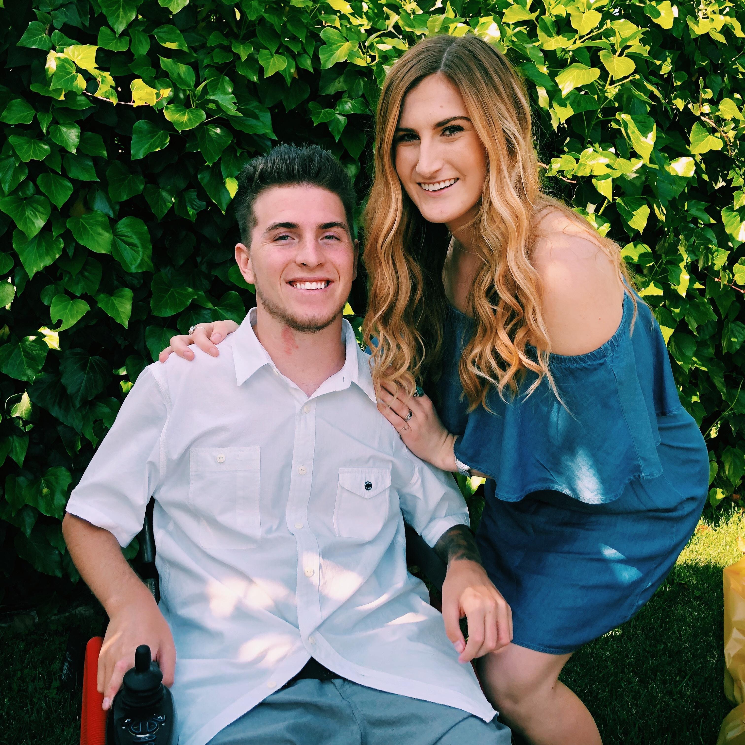 Zack and fiancé