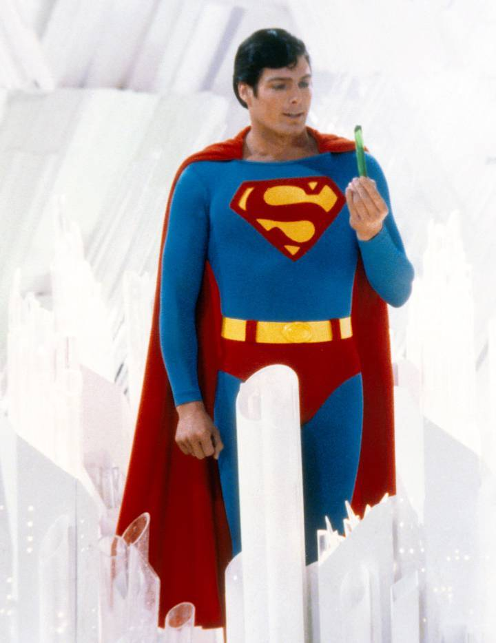 Christopher Reeve as Superman 1978. Photo: Getty
