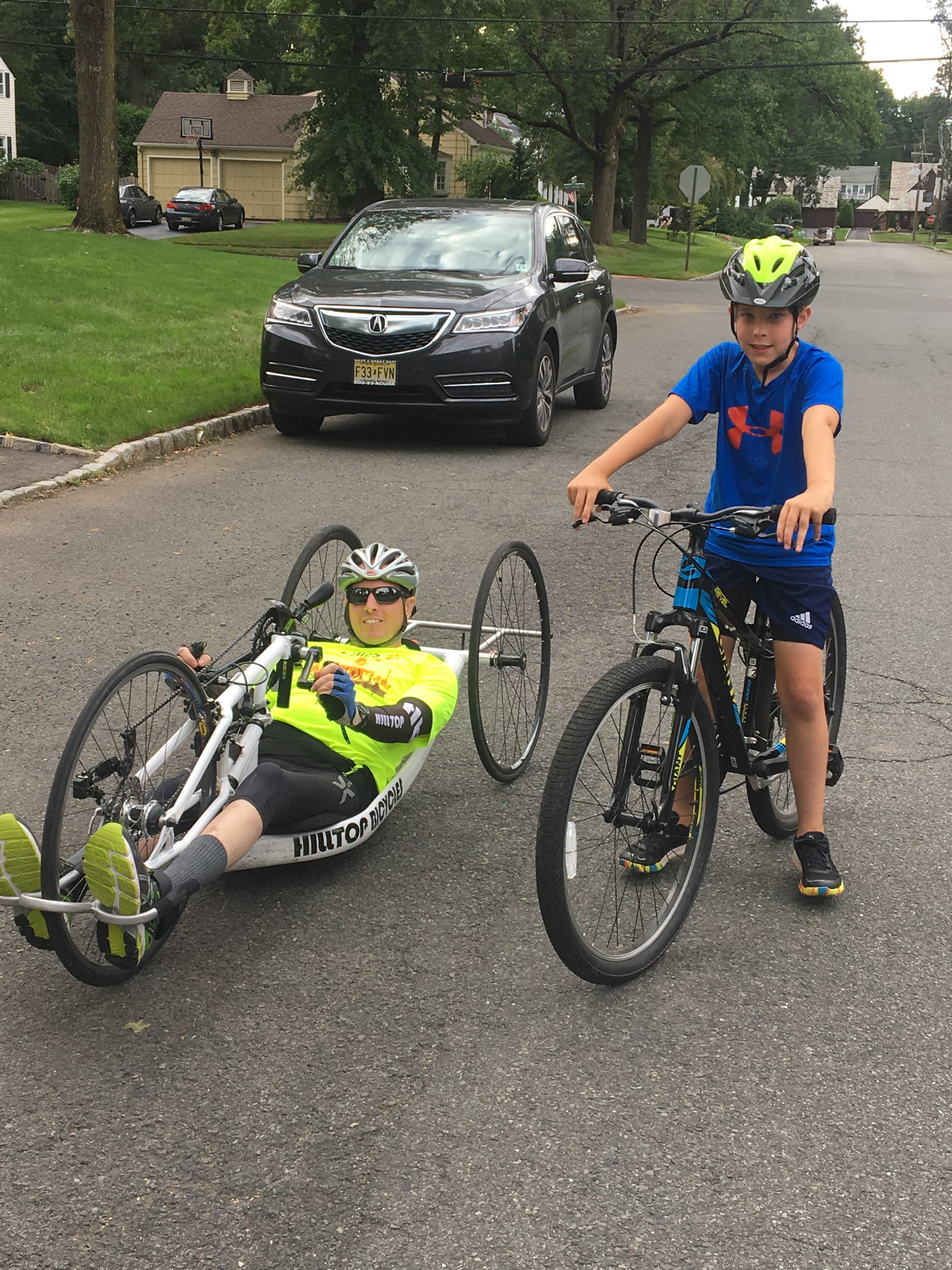 Dennis and Declan riding
