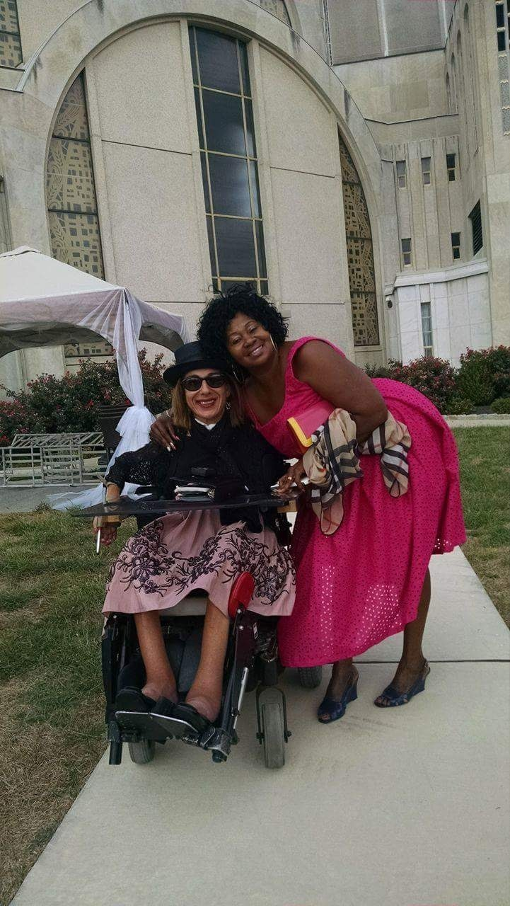 Sheri and her caregiver