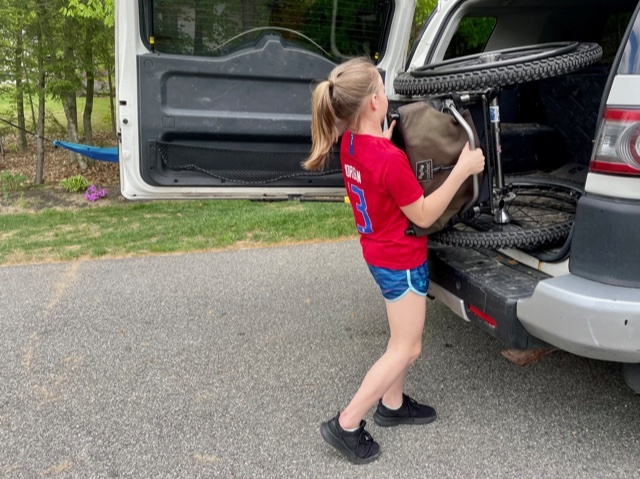 Putting wheelchair into the car