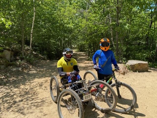 Krill family mountain biking