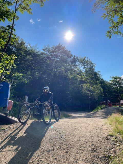 Geoff adaptive mountain biking