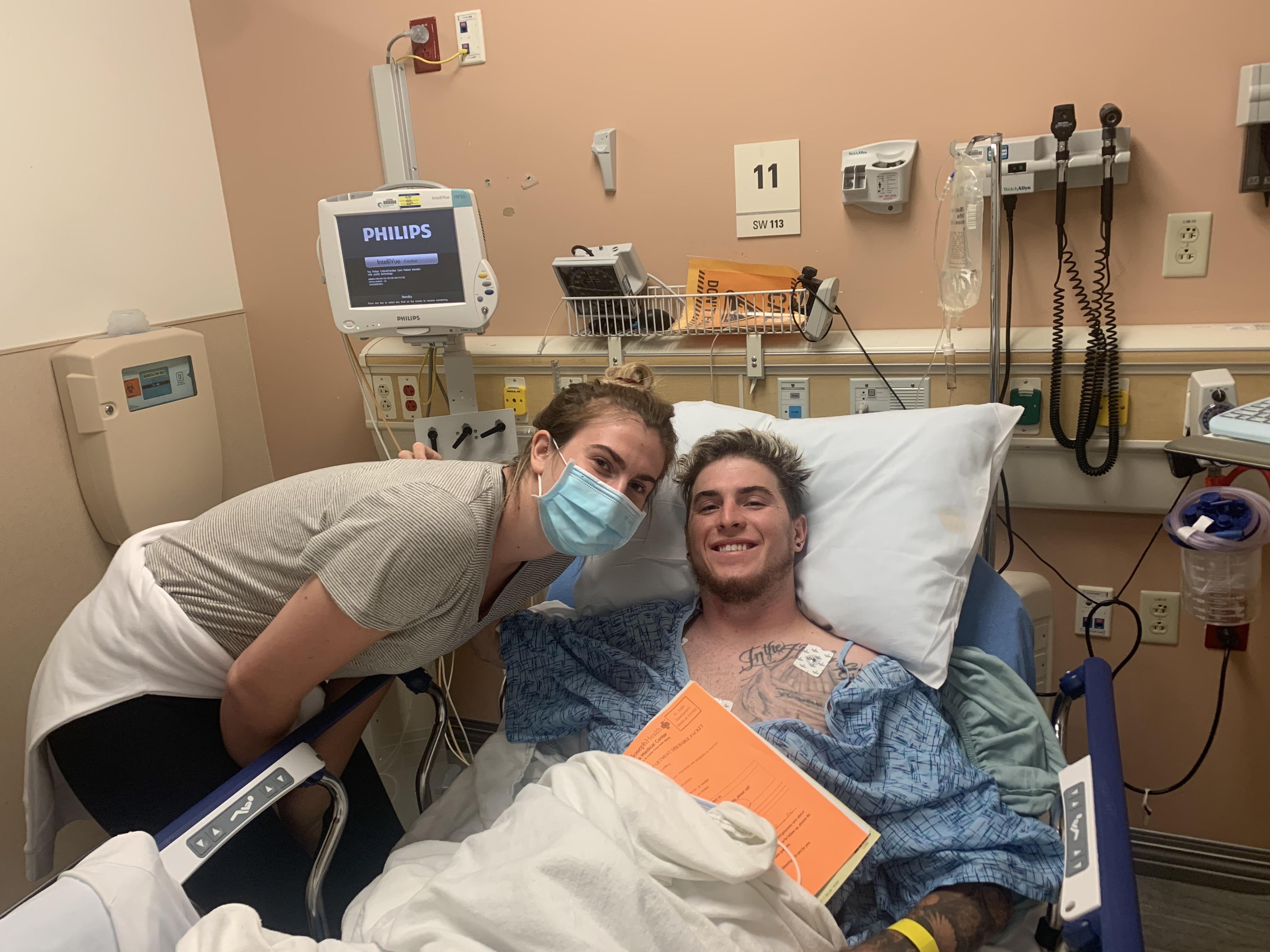 Zack in hospital
