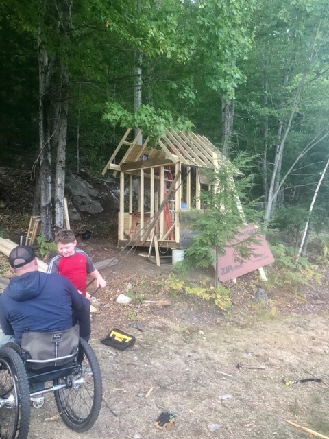Krill family building their accessible treehouse