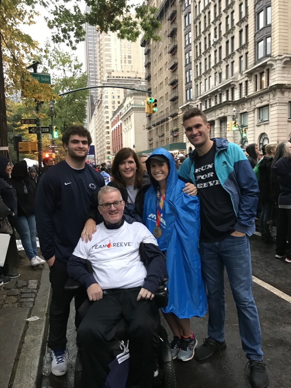 Munnelly family at the sidelines after a marathon