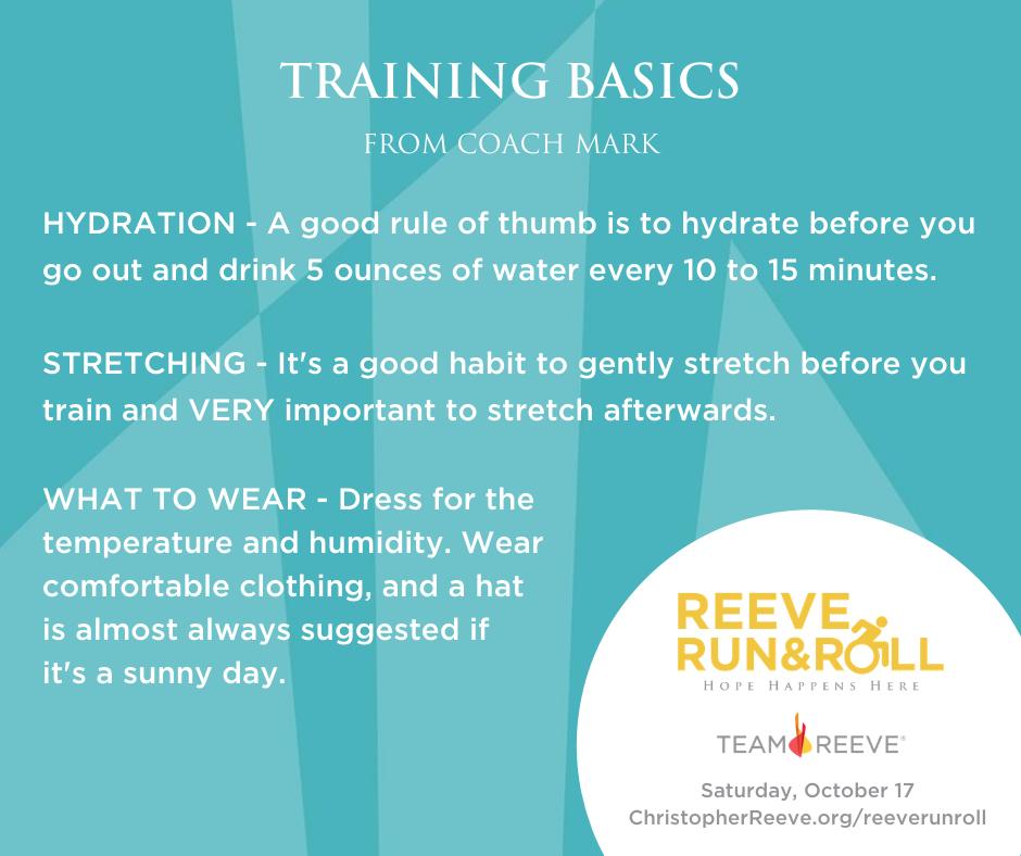 Training Basics from Coach Mark